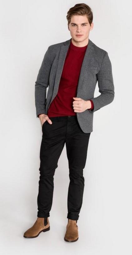dc517670e748 V tomto velice slušivém outfitu získáte ležérně-elegantní image džentlmena.  Stačí doplnit ještě o hodinky v černém